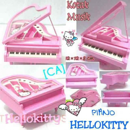 Kotak musik Grand Piano Hello kitty