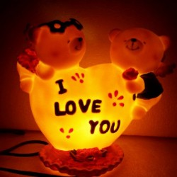 Lampu couple cupid i love you