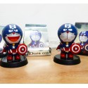 Action Figure Doraemon cosplay captain america solar dashboard mobil