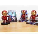 Solar toys ironman action figure solar toys dashboard mobil
