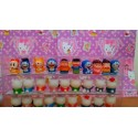 Action figure doraemon, suneo, shizuka, giant, hello kitty, doremi