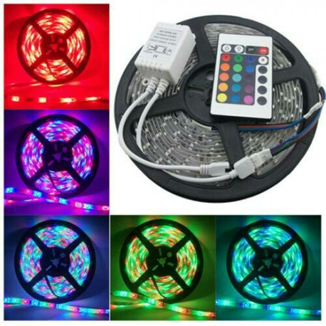 RGB LED STRIP lampu pesta disco club toko hotel warna warni + remote