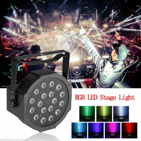 Lampu sorot panggung disco LED PAR RGBW 18W DJ stage lighting party