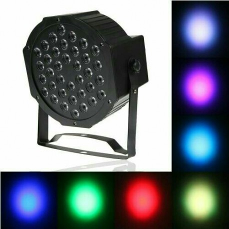 LAMPU SOROT DISCO PAR 36 LED RGBW DJ stage lighting dekorasi wedding
